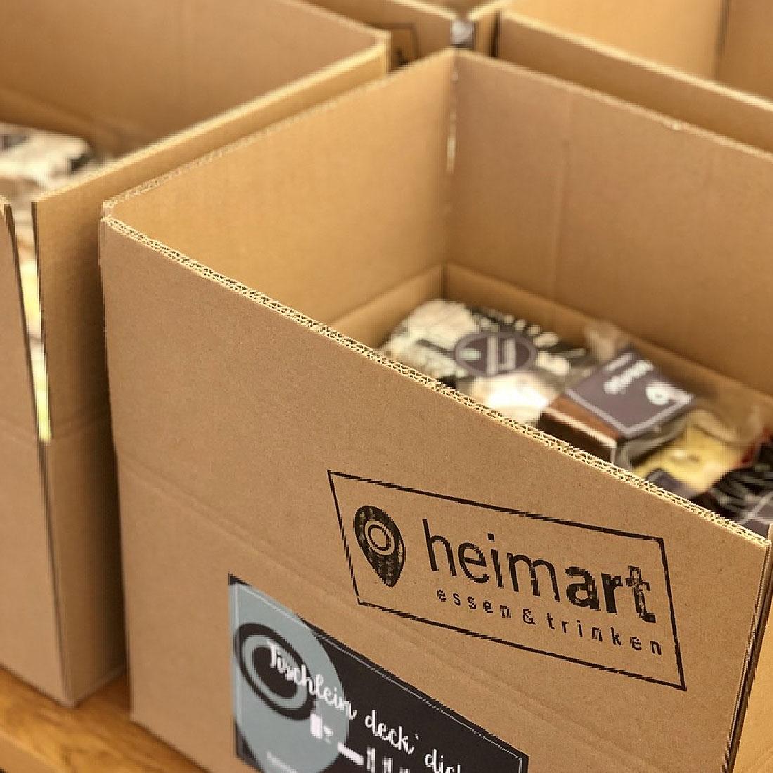 heimart - Karton mit Aufkleber und Inhalt